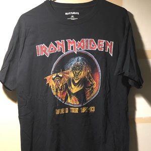 Iron Maiden T-Shirt L 1982-83 World Tour Reprint